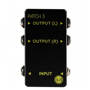 3 WAY PEDALBOARD PATCHBAY - MONO IN, STEREO OUT